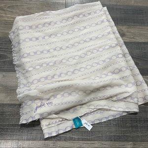 Julie Vos NWT Purple Chain Scarf Wrap Shawl Wool